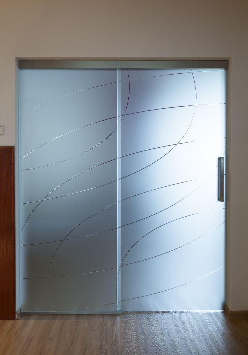 Jednokřídlé posuvné dveře 12